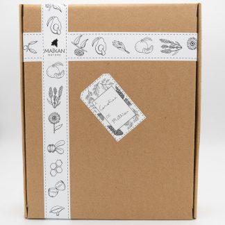 big box with name tag